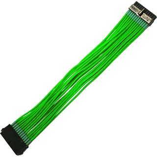 Nanoxia 30 cm sleeved neon grünes ATX Verlängerung für 24-Pin ATX (NX24V3ENG)