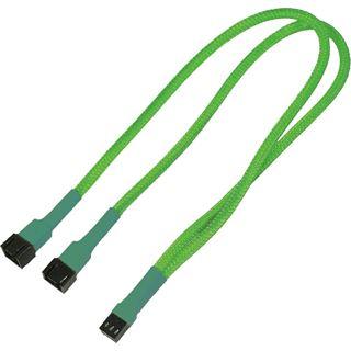 Nanoxia 30 cm einzeln gesleeved neon grünes Verlängerungskabel für 3-Pin Molex (NX3PV3ENG)
