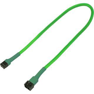 Nanoxia 30 cm sleeved neon grünes Verlängerungskabel für 3-Pin Molex (NX3PV30NG)