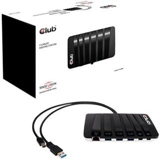 Club3D Y-Cabled Dock. USB3/Mini-DP -> 3xUSB3/2xMini-DP/RJ45