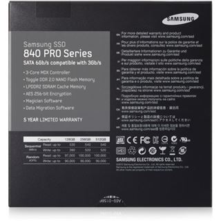 "256GB Samsung 840 Pro Series 2.5"" (6.4cm) SATA 6Gb/s MLC Toggle (MZ-7PD256Z)"