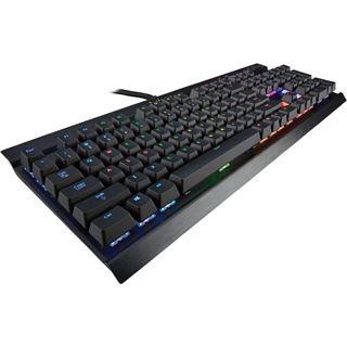 Corsair Gaming K70 CHERRY MX RGB Red USB Deutsch schwarz (kabelgebunden)