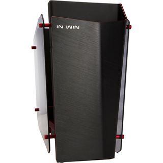 IN WIN S-Frame mit Sichtfenster Midi Tower ohne Netzteil schwarz/rot
