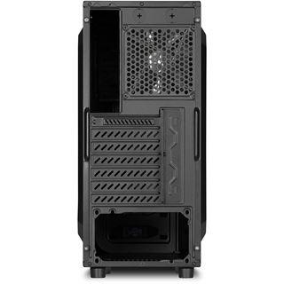 Sharkoon VG4-W mit Sichtfenster Midi Tower ohne Netzteil schwarz