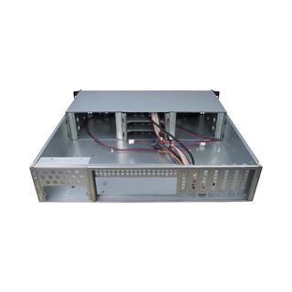 Inter-Tech IPC 2U-20240 Server Rack ohne Netzteil schwarz/silber