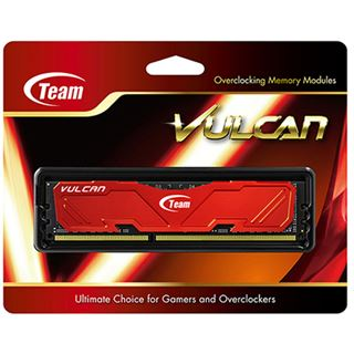 4GB TeamGroup Vulcan Series rot Bulk DDR3-1600 DIMM CL9 Single