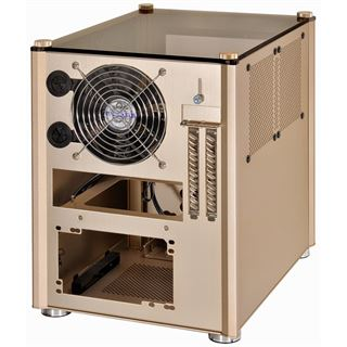 Lian Li PC-Q36WRX mit Sichtfenster Mini-ITX ohne Netzteil gold