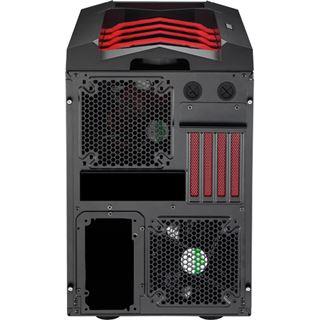 AeroCool Xpredator Cube Red Edition mit Sichtfenster Wuerfel ohne Netzteil schwarz/rot