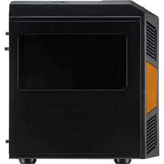 AeroCool Xpredator Cube Orange Edition mit Sichtfenster Wuerfel ohne Netzteil schwarz/orange