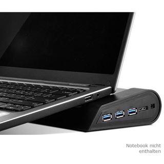 Silverstone SST-NB05B Noble Breeze Notebook Cooler - schwarz