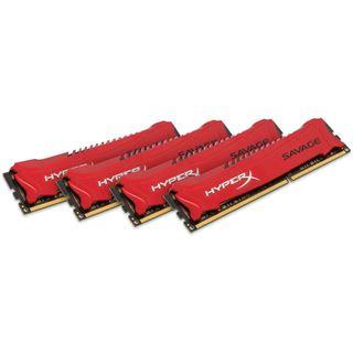 32GB HyperX Savage rot DDR3-2400 DIMM CL11 Quad Kit
