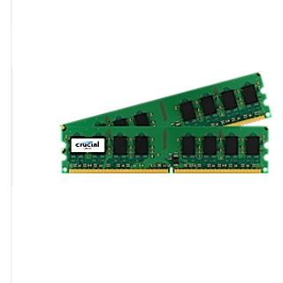 4GB Crucial CT2KIT25664AA1067 DDR2-1066 DIMM CL7 Dual Kit