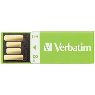 8 GB Verbatim Clip-it gruen USB 2.0