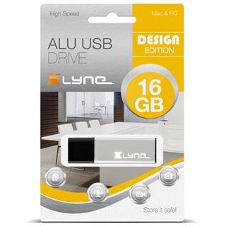 16 GB xlyne Alu silber USB 2.0