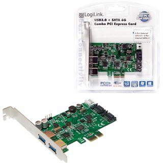 LogiLink PC0059A 4 Port PCIe x1 inkl. Low Profile Slotblech / Low Profile retail