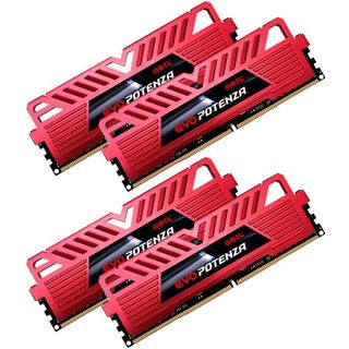 16GB GeIL EVO Potenza rot DDR4-3200 DIMM CL16 Quad Kit