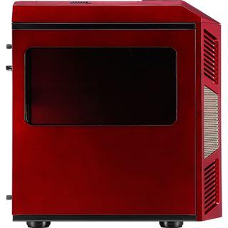 AeroCool Xpredator Cube RG mit Sichtfenster Wuerfel ohne Netzteil rot/gold