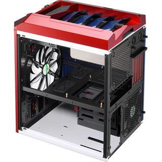 AeroCool Xpredator Cube BR mit Sichtfenster Wuerfel ohne Netzteil blau/rot