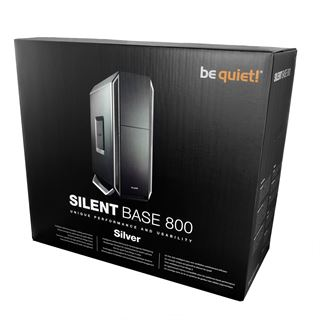 be quiet! Silent Base 800 gedämmt Midi Tower ohne Netzteil silber