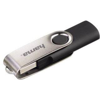 16 GB Hama Flashpen Rotate schwarz/silber USB 2.0