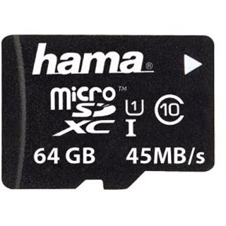 64 GB Hama UHS-I 45MB/s microSDXC UHS-I Retail
