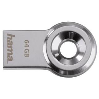 64 GB Hama FlashPen Drop silber USB 2.0
