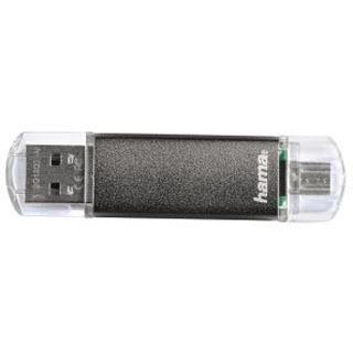 64 GB Hama FlashPen Laeta Twin OTG grau USB 2.0