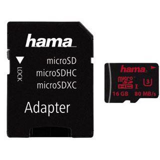 16 GB Hama Foto microSDHC UHS-I Retail inkl. Adapter auf SD
