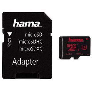 64 GB Hama Foto Kit microSDXC UHS-I Retail inkl. Adapter auf SD