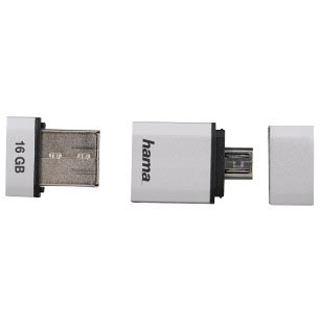 16 GB Hama FlashPen Smartly silber USB 2.0