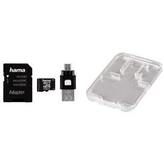 8 GB Hama OTG-Zubehör-Set microSDHC Class 10 Retail inkl. USB-Adapter und Adapter auf SD