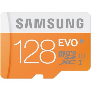 128 GB Samsung Evo microSDXC UHS-I Retail inkl. Adapter