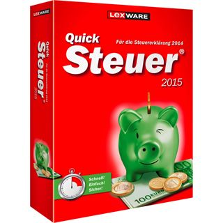 Lexware QuickSteuer 2015 FFP 32/64 Bit Deutsch Finanzen Vollversion PC (CD)