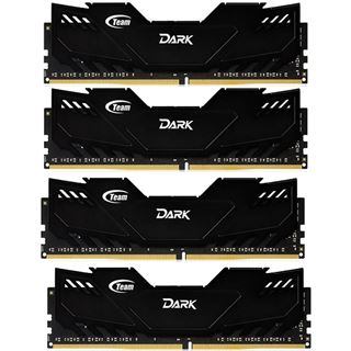 32GB TeamGroup Dark Series schwarz DDR4-2800 DIMM CL16 Quad Kit