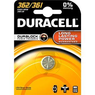 Duracell Batterie Silver Oxide, Knopfzelle, 362/361, 1.5V