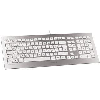 CHERRY Strait USB Belgisch weiß/silber (kabelgebunden)