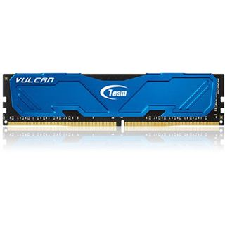 16GB TeamGroup Vulcan Series blau DDR4-2666 DIMM CL15 Quad Kit