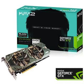 4GB KFA2 GeForce GTX 970 EX OC Black Edition Aktiv PCIe 3.0 x16 (Retail)