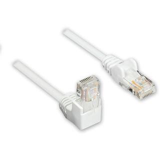 2.00m Good Connections Cat. 5e Patchkabel U/UTP RJ45 Stecker auf RJ45 Stecker Weiß 90° gewinkelt