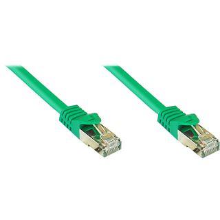 (€0,74*/1m) 50.00m Good Connections Cat. 7 Rohkabel Patchkabel S/FTP PiMF RJ45 Stecker auf RJ45 Stecker Grün halogenfrei/vergoldet