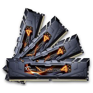 32GB G.Skill RipJaws 4 black DDR4-2666 DIMM CL15 Quad Kit