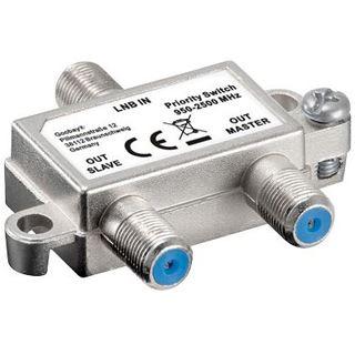 Good Connections Vorrang-Schalter verteilt/schaltet 1 LNB auf 2 SAT-Receiver