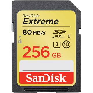 256 GB SanDisk Extreme HD Video SDXC Class 10 U1 Retail