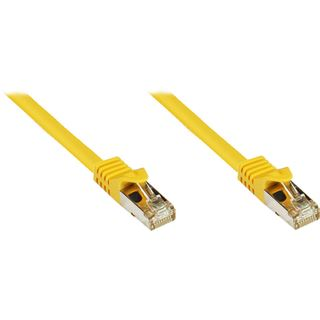(€0,80*/1m) 40.00m Good Connections Cat. 7 Rohkabel Patchkabel S/FTP PiMF RJ45 Stecker auf RJ45 Stecker Gelb halogenfrei