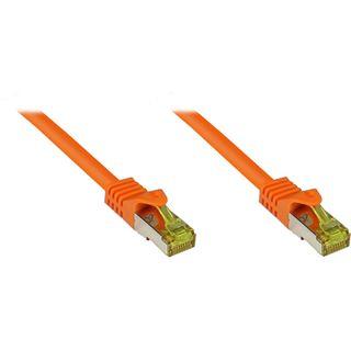 (€1,16*/1m) 25.00m Good Connections Cat. 7 Rohkabel Patchkabel S/FTP PiMF RJ45 Stecker auf RJ45 Stecker Orange halogenfrei/vergoldet