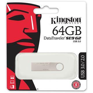 64 GB Kingston DataTraveler SE9 G2 silber USB 3.0