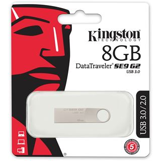 8 GB Kingston DataTraveler SE9 G2 silber USB 3.0