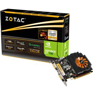1GB ZOTAC GeForce GT 730 Aktiv PCIe 3.0 x16 (Retail)