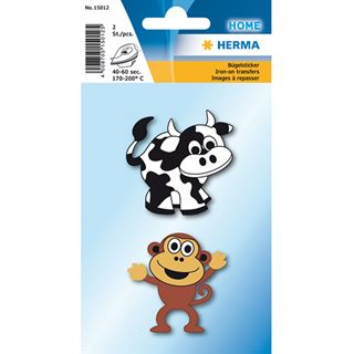 Herma Bügelbilder Kuh + Affe