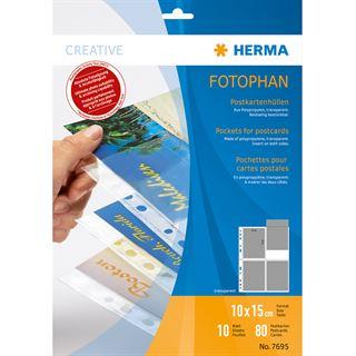 Herma Postkartenhüllen 10x15 cm